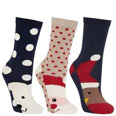 John Lewis Ladies Xmas Socks 3 Pack £1.95 click and collect