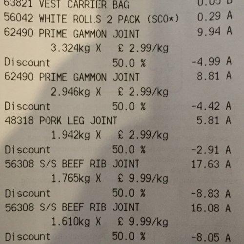 Aldi - Beef/Pork/Ham half price!