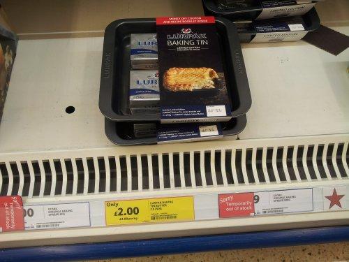 lurpak x 2 plus baking tray £2.00 Tesco instore & online