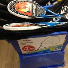 Dunlop blaze c100 tennis racket £4.99 in sports direct (also on line lol rrp £50?)