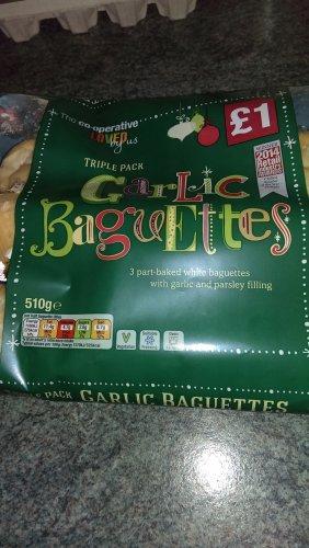 Co-op loved by us triple pack garlic baguettes - 50p