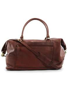 Textured Multi Tone Vintage Leather Holdall in Tan with a Reddish Hue - was £249 now £99 @ Lakeland Leather