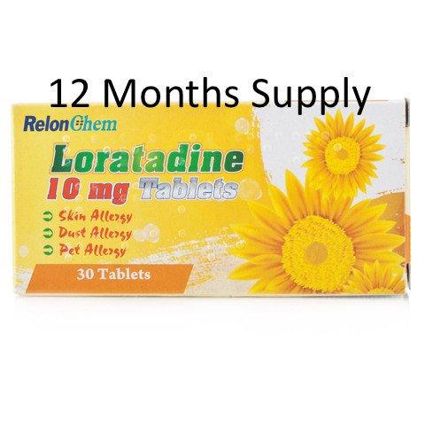 12 months supply of Loratadine Hayfever Tablets - 360 for £9.50 delivered @ Pharmacy Kwik