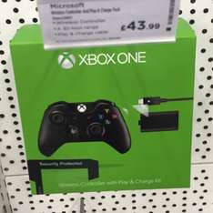 Xbox One Wireless Controller + Play And Charge Kit £43.99 @Currys/PCWorld Instore