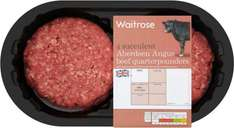 Aberdeen Angus Quarterpounder Beefburgers (95% Beef) (4 per pack - 454g) was £4.39 now £2.19 @ Waitrose