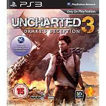 Uncharted 3: Drakes Deception New £6.95 Click & Collect @ Johnlewis.com