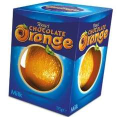 Assorted Chocolate oranges 75p Wilkinsons