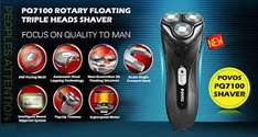 POVOS PQ7100 Cordless 3D Floating Rechargeable Rotary Men's Shaver Razor Trimmer £14.49 delivered @ Ebay/brands_mall