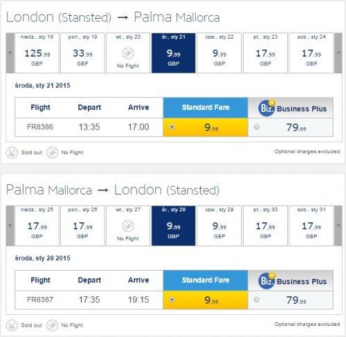 Ryanair: Flights to Majorca, Barcelona-El Prat, Malaga and Lisbon for £19.98 RTN!