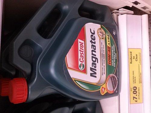 Castrol Magnatec Semi-Synthetic Oil  £7.00 instore @ Tesco