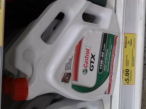 Castrol GTX Part-Synthetic £5.00 @ Tesco instore