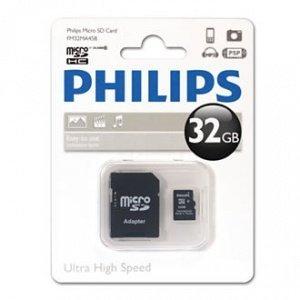 Philips Micro SDHC Card CLASS 10 - 32GB + Adapter £8.99 @ 7DayShop.com + 2% Quidco