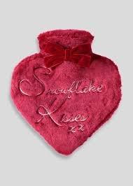 Heart shaped hot water bottle @ matalan £1.50