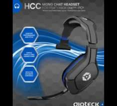 Gioteck HCC Mono Headset For PlayStation 4, Xbox 1 & Pc £10 @ Game