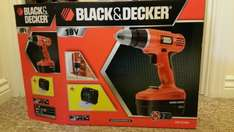 Black and Decker cordless 18V Drill + Carry Case + 90 piece drill bits £39.00 @ Asda instore
