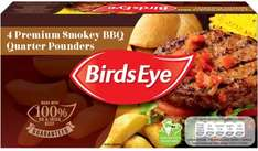 Birds Eye Premium Smokey BBQ Quarter Pounders (454g) - £1.50 @ Heron Foods