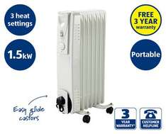 Oil Filled Radiator 1.5kw £24.99 @ Aldi