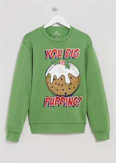 Reduced from £12 to **£3** Mens Big Pudding Christmas Jumper -- other styles in stock @ Matalan