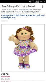 cabbage patch kids £17.50 @ boots