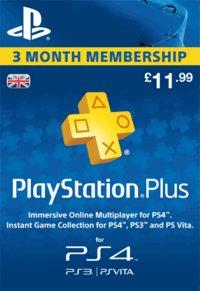 PlayStation Plus 3 Months Membership Download £11.99 @ Game
