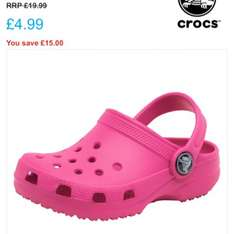 Kids size 5 pink crocs - £4.99 @ M&M Direct (£3.99 P&P)