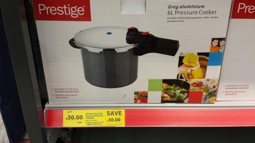 prestige pressure cooker 6L £30 instore @ Tesco