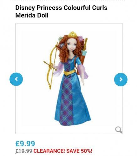 Merida Colourful Curls Doll £9.99 @ Toys r us