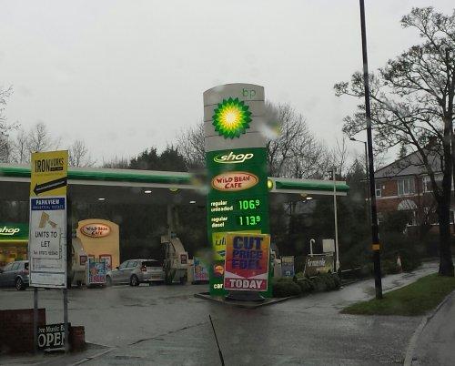 BP - lowest fuel price! 106.9 (petrol), 113.9 (diesel)
