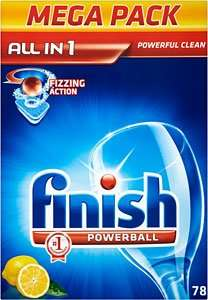 78 Finish All in 1 Powerball Lemon Dishwasher Tablets @ Asda for £9.00 (11.5p/tablet)