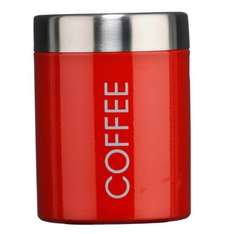 Premier Housewares Coffee Canister - Red, just £1.80  (Add-on item Free Del £10 order) @ Amazon.co.uk
