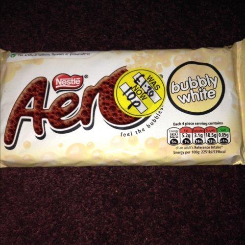 Aero bubbly white chocolate bar 120g 10p @ Superdrug