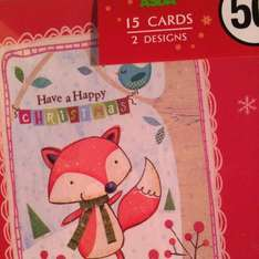 Packs of Christmas cards 15p in asda