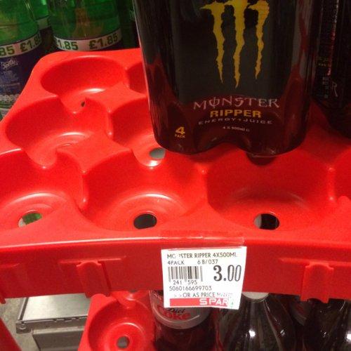 Monster 4pk £3 @ Spar