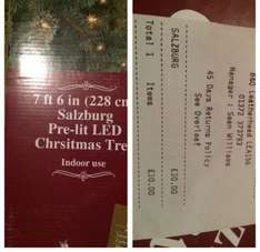 7ft 6in pre-lit LED christmas tree £30 at B&Q