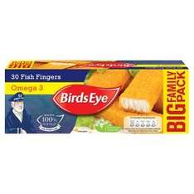 30 Birds Eye Omega 3 Fish Fingers £2.77 (was £4.24) at Asda