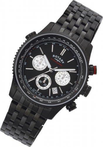 Rotary Men's Black Chronograph Bracelet Watch (Refurbished) @ Argos Ebay Outlet for £49.99