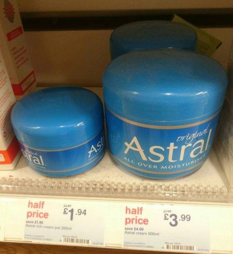 Astral cream moisturiser half price £1.94 @ Boots