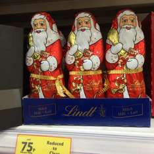 Lindt 125g Chocolate Santa 75p at Tesco was £3