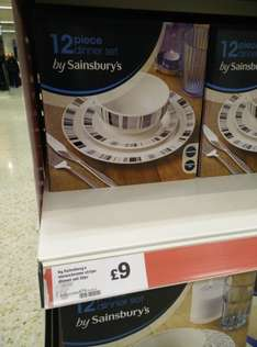 12 piece dinner set by Sainsburys £9