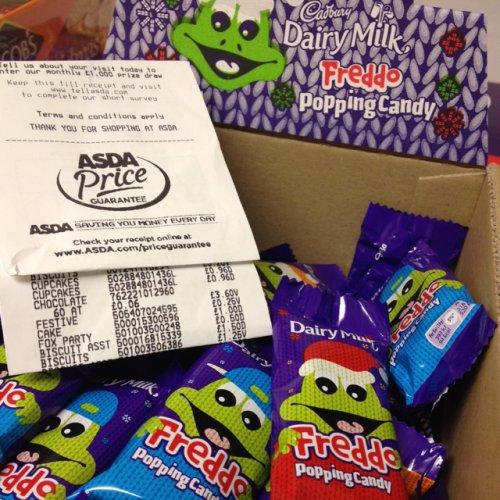 Dairy milk - Freddo popping candy £0.06 each @ Asda