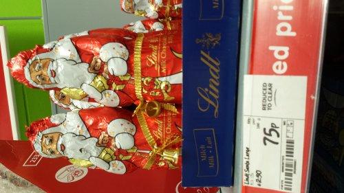 Lindt Chocolate Santa 125g 75p at Asda Reduced From £2.50