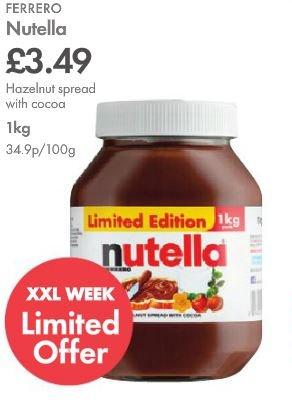 Ferrero Nutella 1KG!!! £3.50 @ Lidl This Thursday 8th Jan