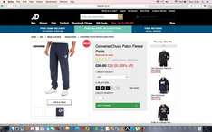 Mens Converse T-shirt+pants ONLY £38.60 in JD Sale!!! (TCB etc)