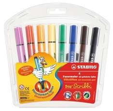 Stabilo Trio Scribbi Wallet of 8 Assorted Colours £2.90 at Amazon (add on item)