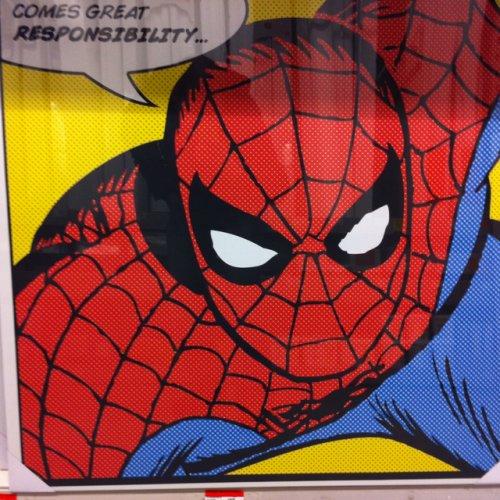 Spider-Man 90x90cm canvas print £12 in store B&Q Taunton