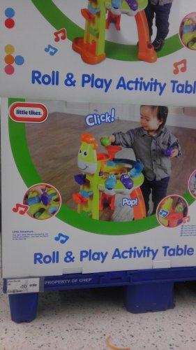 roll & play activity table £10 @ Asda