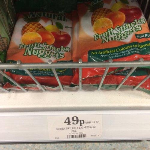 Florida Naturals Fruit Nuggets 5pk 49p @ Home Bargains