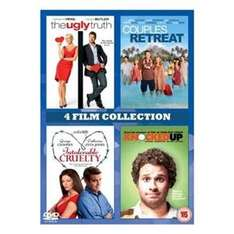The Ugly Truth / Couples Retreat / Intolerable Cruelty / Knocked Up DVD £3.34 from Zoverstocks/Play.com