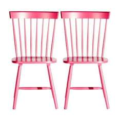 Pair Crofton Spindle Dining Chairs (Pink, Blue or White) Half Price Was £59.99 Now £29.99 Instore @ Dunelm