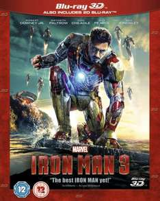 Iron Man 3 (3D Blu-Ray and 2D Blu-Ray) £10 @ Game
